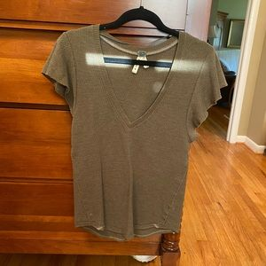 Free people ribbed v neck